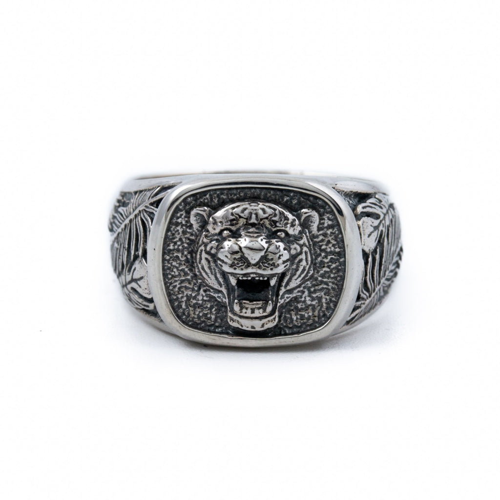 Jungle Tiger Signet Ring - Kingdom Jewelry