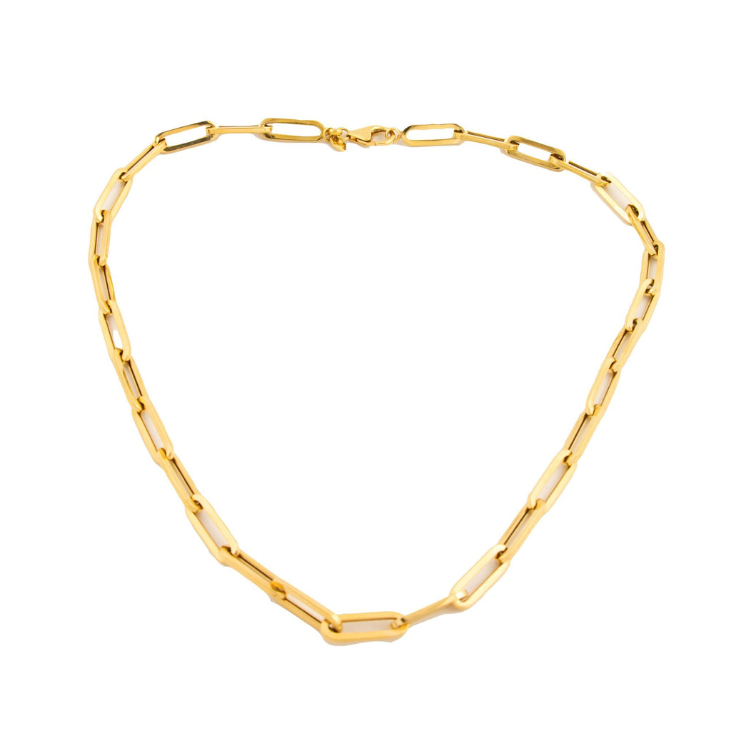 Killer 10kt Paperclip Chain - Kingdom Jewelry