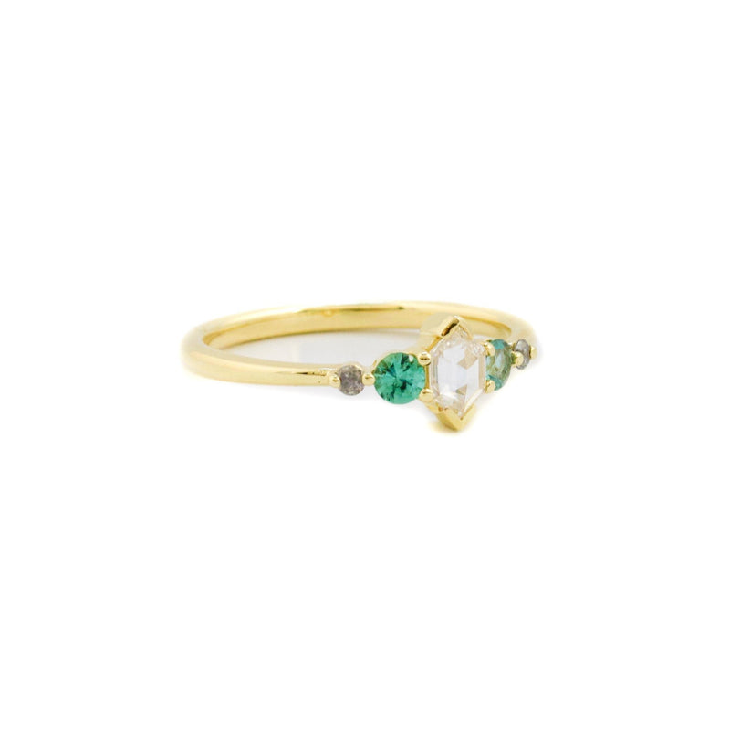Linear Diamond Tourmaline Ring - Kingdom Jewelry