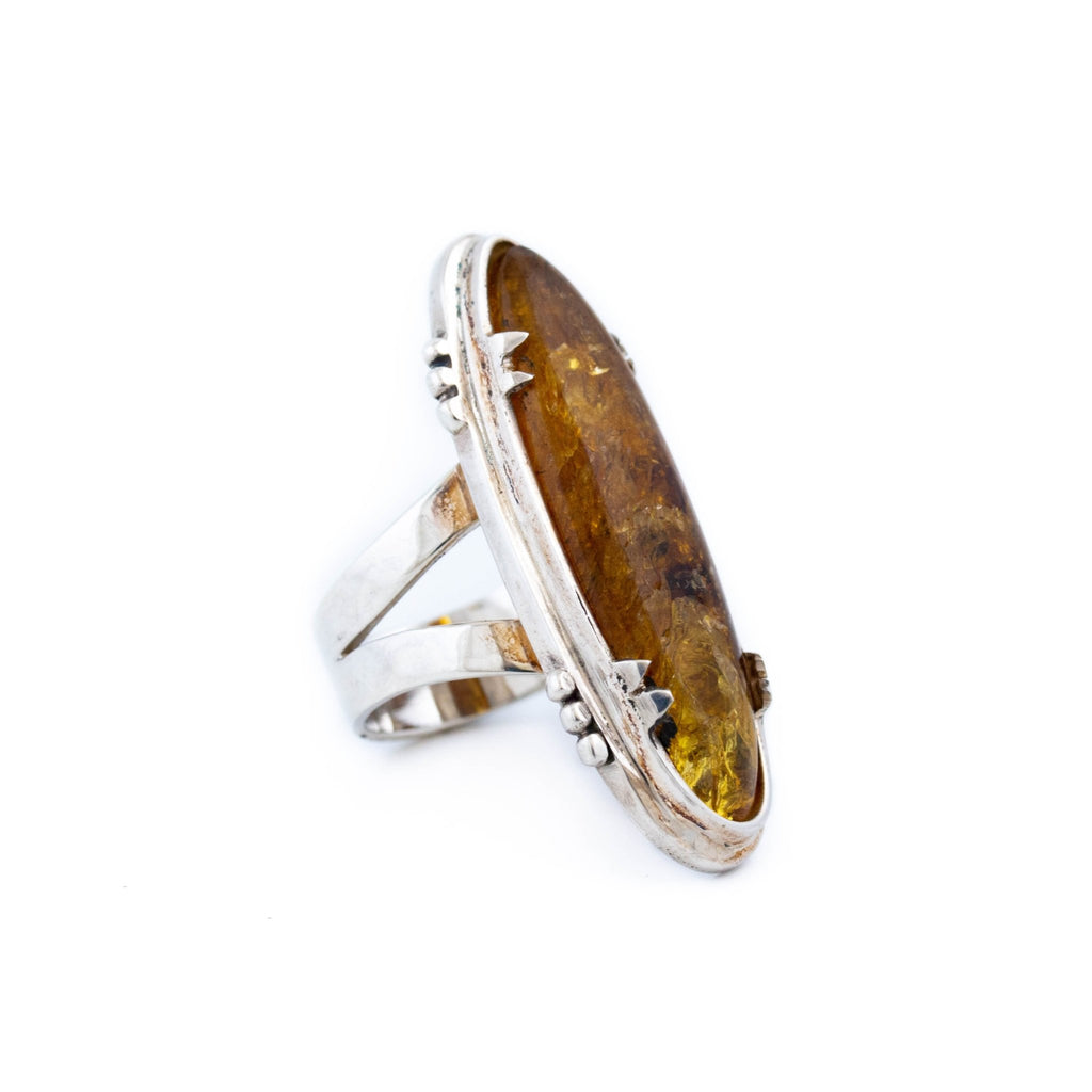 Long Claw Amber Ring - Kingdom Jewelry