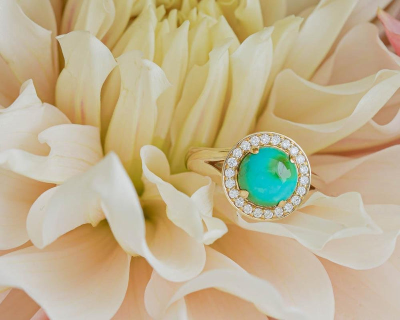 Luna Blue Turquoise Ring - Kingdom Jewelry