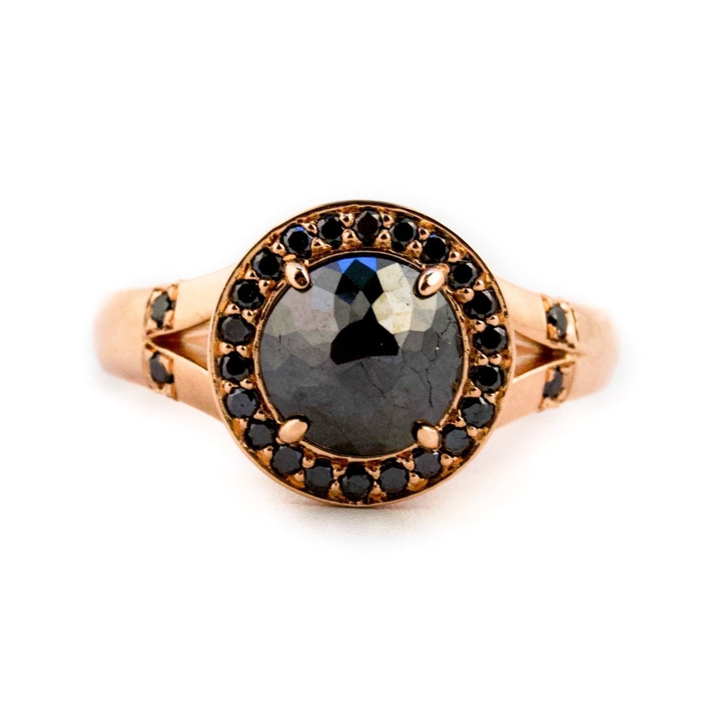 Luna Noir Diamond Ring - Kingdom Jewelry