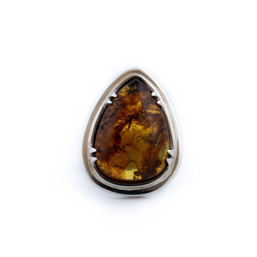 Mexican Amber Sunset Ring - Kingdom Jewelry