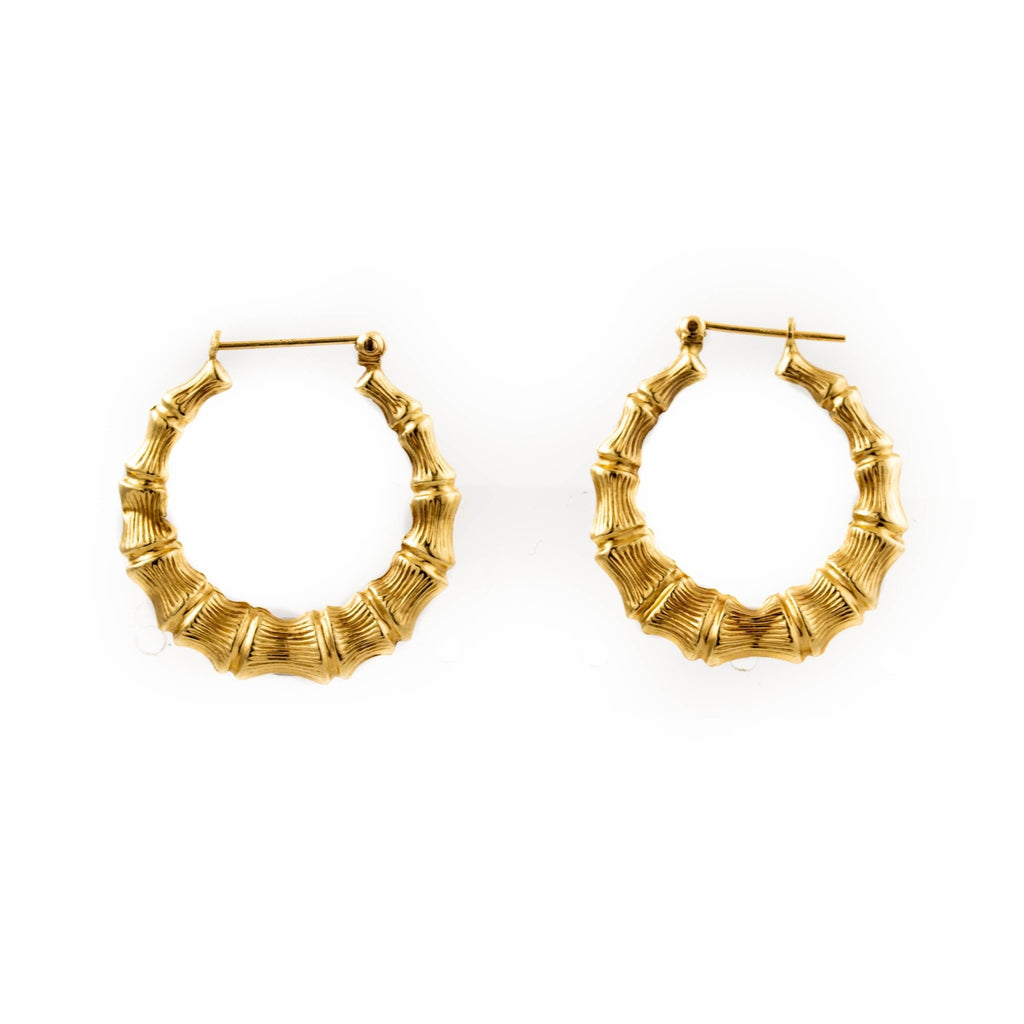 Mis-Matched Bamboo Hoops - Kingdom Jewelry