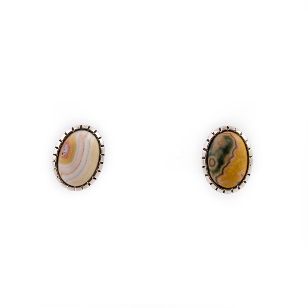 Mismatched Ocean Jasper Earrings - Kingdom Jewelry