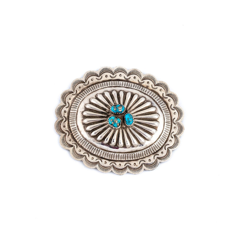 Morenci Turquoise Cocho Buckle - Kingdom Jewelry