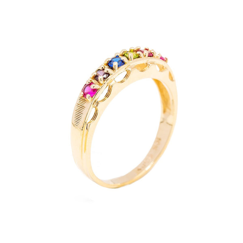 Multi-Sapphire Channel Ring - Kingdom Jewelry