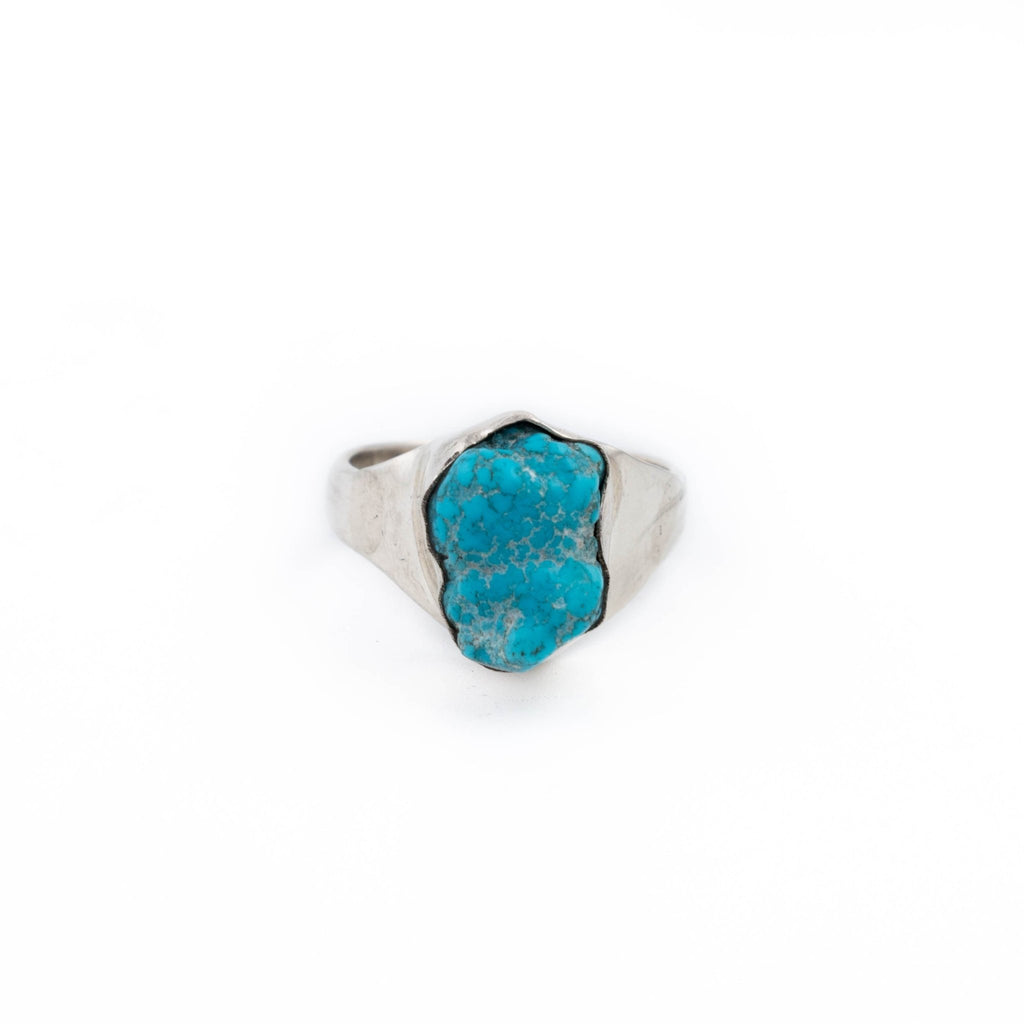 Natural Turquoise Nugget Ring - Kingdom Jewelry
