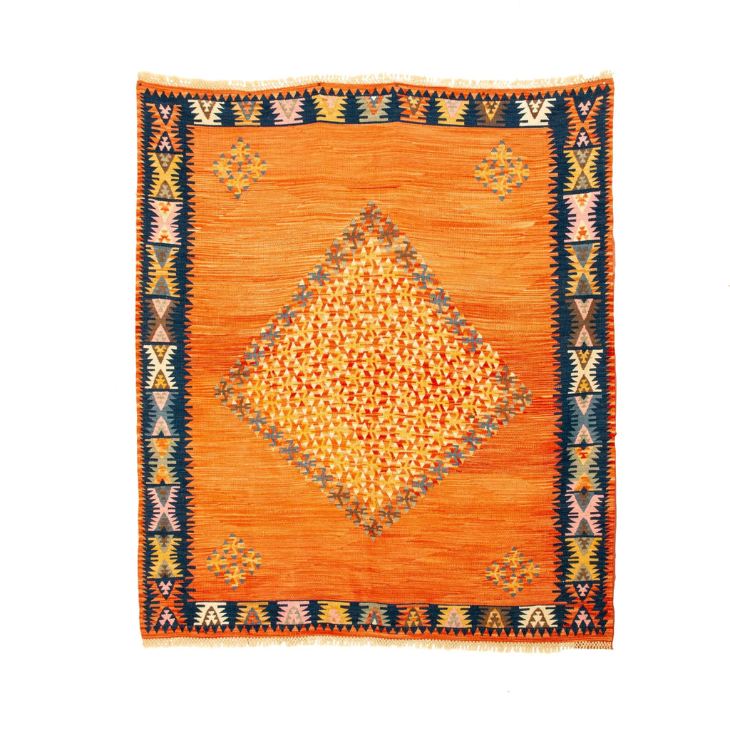 Orange Parallax Pirot Rug - Kingdom Jewelry
