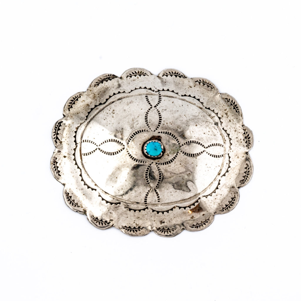 Patinaed Concho Buckle - Kingdom Jewelry