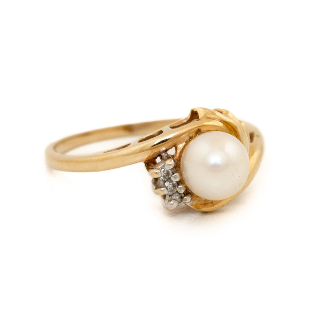Pearl Vintage Engagement Ring - Kingdom Jewelry