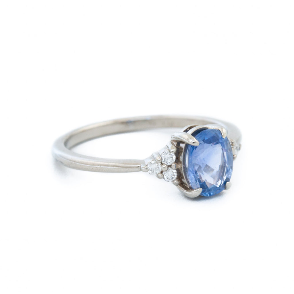 Periwinkle Sapphire Engagement Ring - Kingdom Jewelry