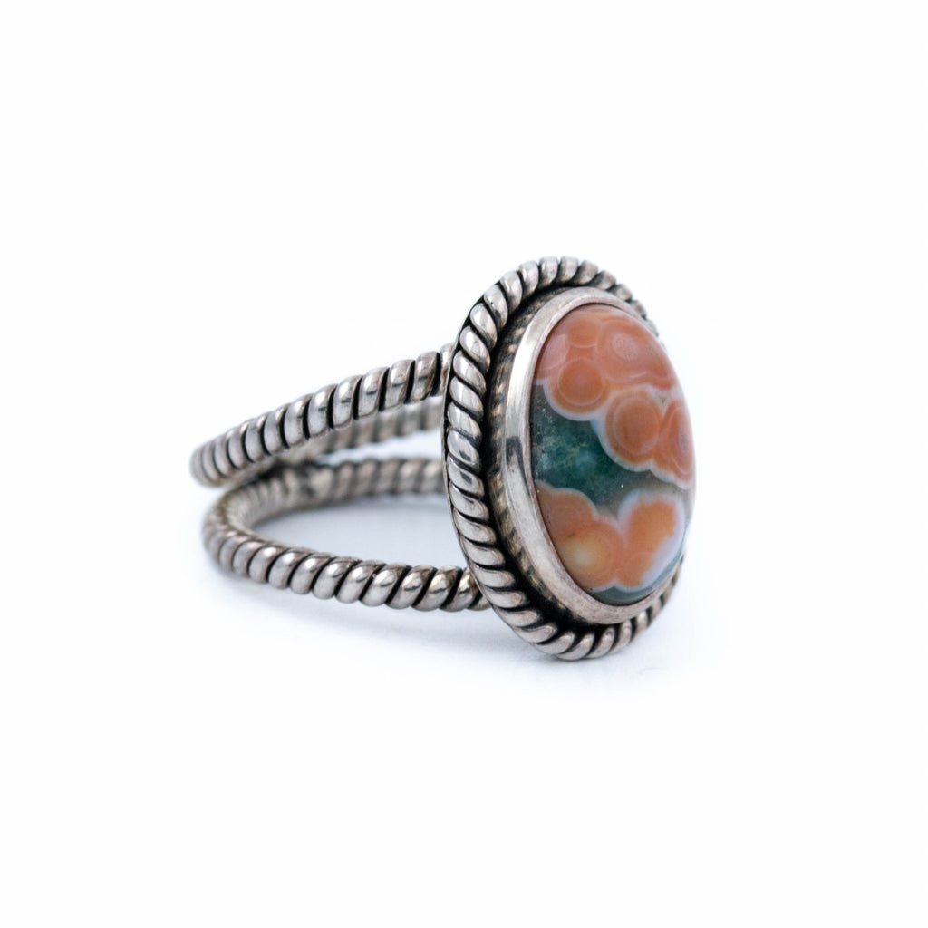 Persimmon Ocean Jasper Ring - Kingdom Jewelry