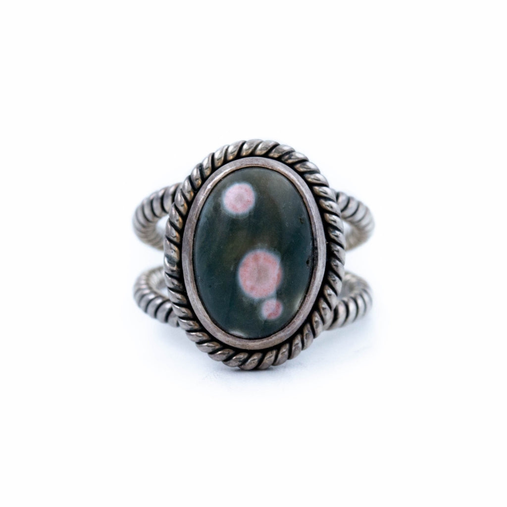 Polka Ocean Jasper Ring - Kingdom Jewelry
