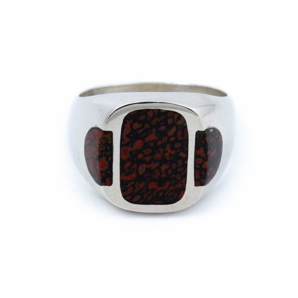 Prehistoric Bone Inlay Ring - Kingdom Jewelry