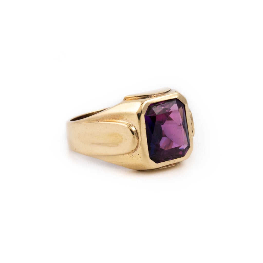 Purple Antique Glass Ring - Kingdom Jewelry