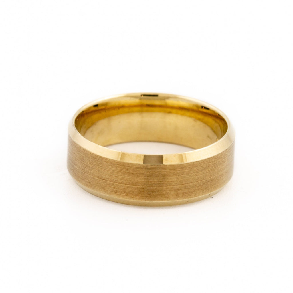 Recessed-Edged Textured Band - Kingdom Jewelry