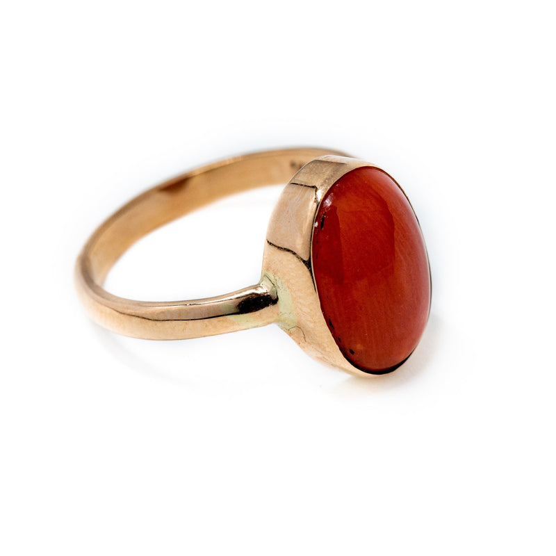 Red Coral Gold Ring - Kingdom Jewelry