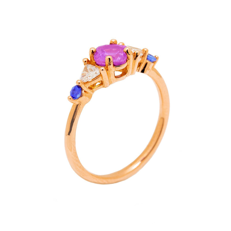 Regal Sapphire Gold Engagement Ring - Kingdom Jewelry