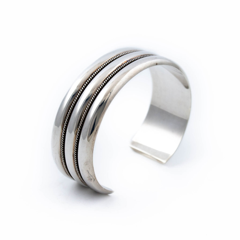 Ribbed Sterling Silver Cuff - Kingdom Jewelry