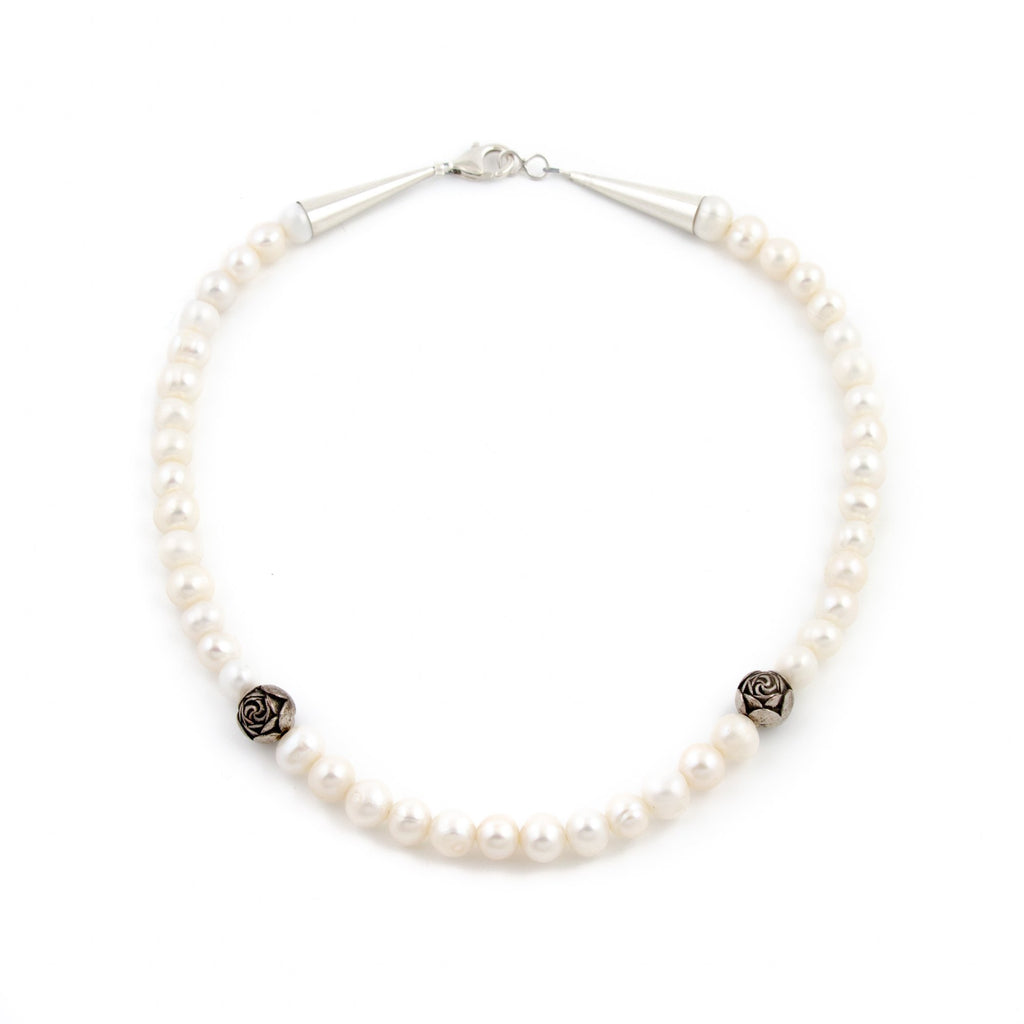 Rose Pearl Choker Necklace - Kingdom Jewelry