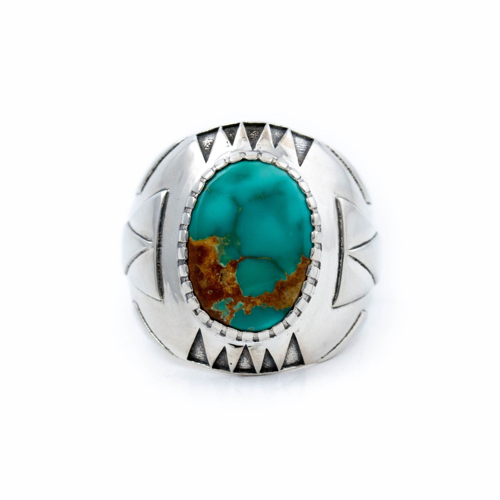 Royston Turquoise Delta Ring - Kingdom Jewelry