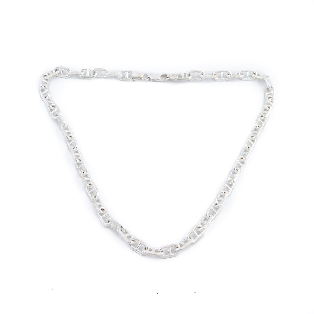 Silver Anchor Chain Necklace - Kingdom Jewelry