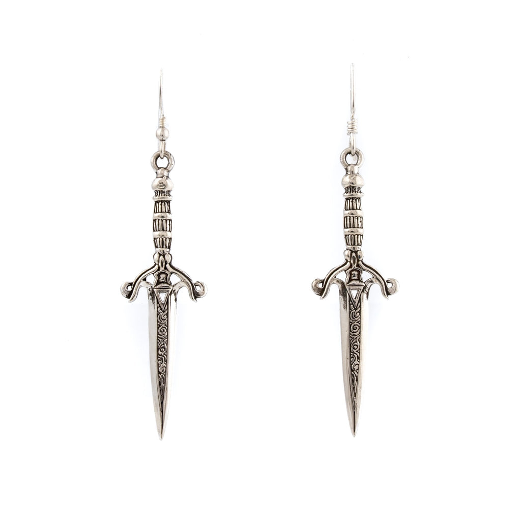 Silver Dagger Earrings - Kingdom Jewelry