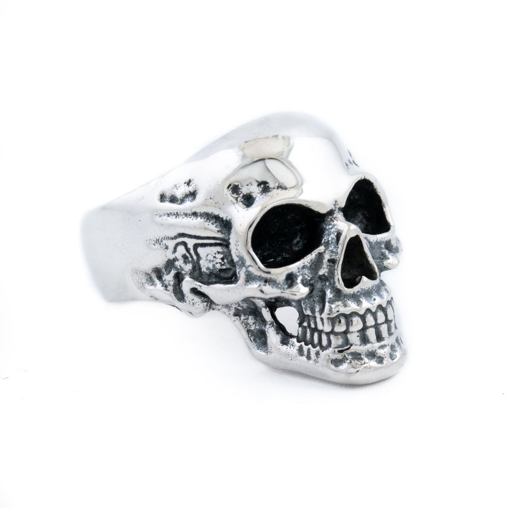 "Silver ""Eddie"" Skull Ring - Kingdom Jewelry"