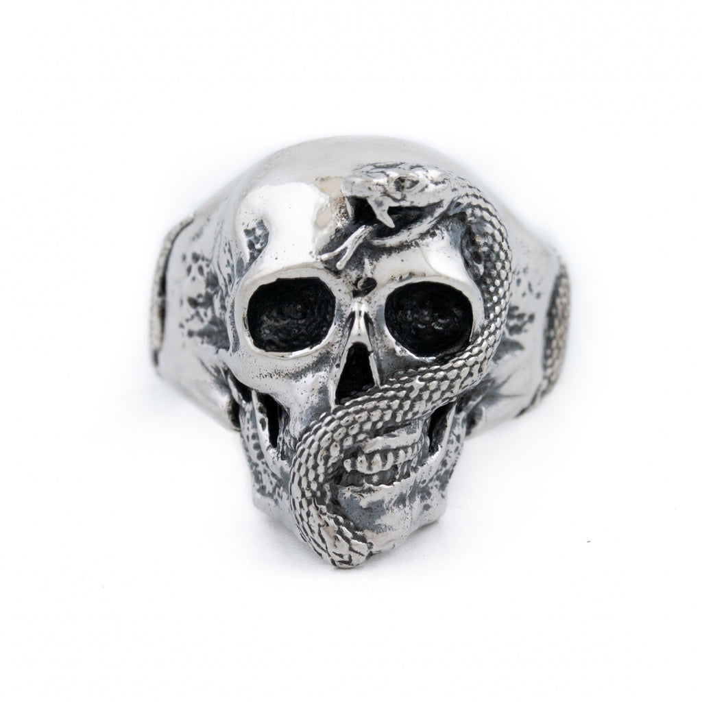 "Silver ""Jake"" Skull Ring - Kingdom Jewelry"