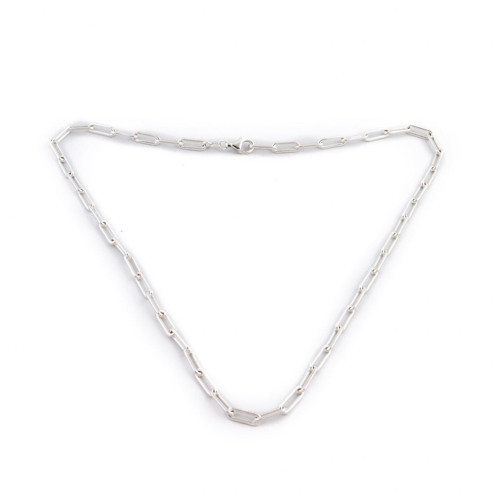 Silver Layering Paperclip Necklace - Kingdom Jewelry