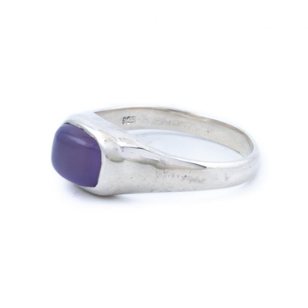 Silver Purple Chalcedony Ring - Kingdom Jewelry