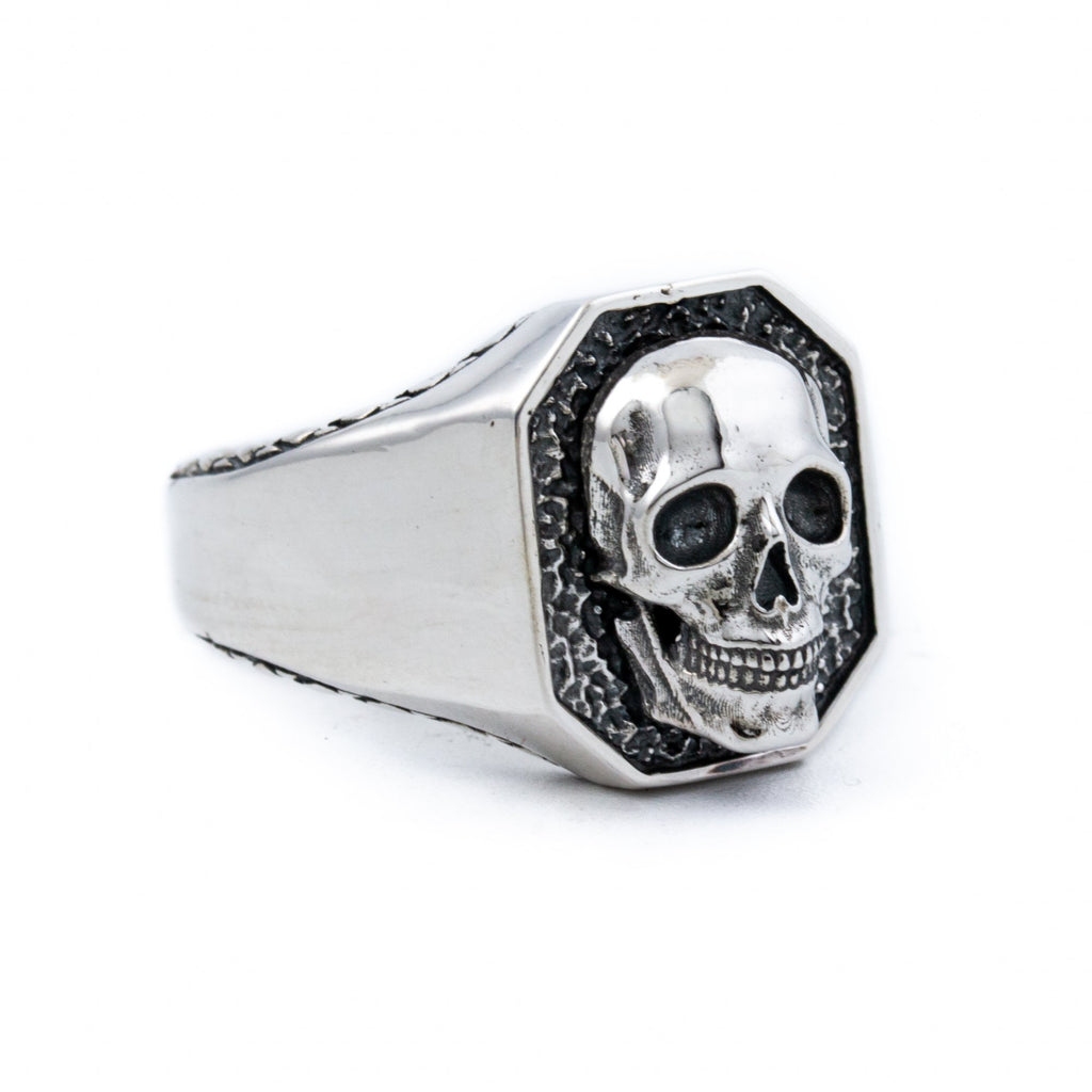 Silver Skull Crest Ring - Kingdom Jewelry