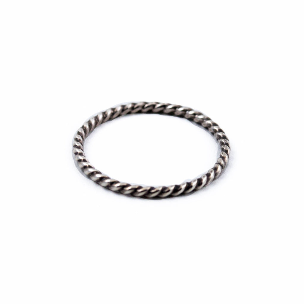 Silver Twist Stacking Ring - Kingdom Jewelry