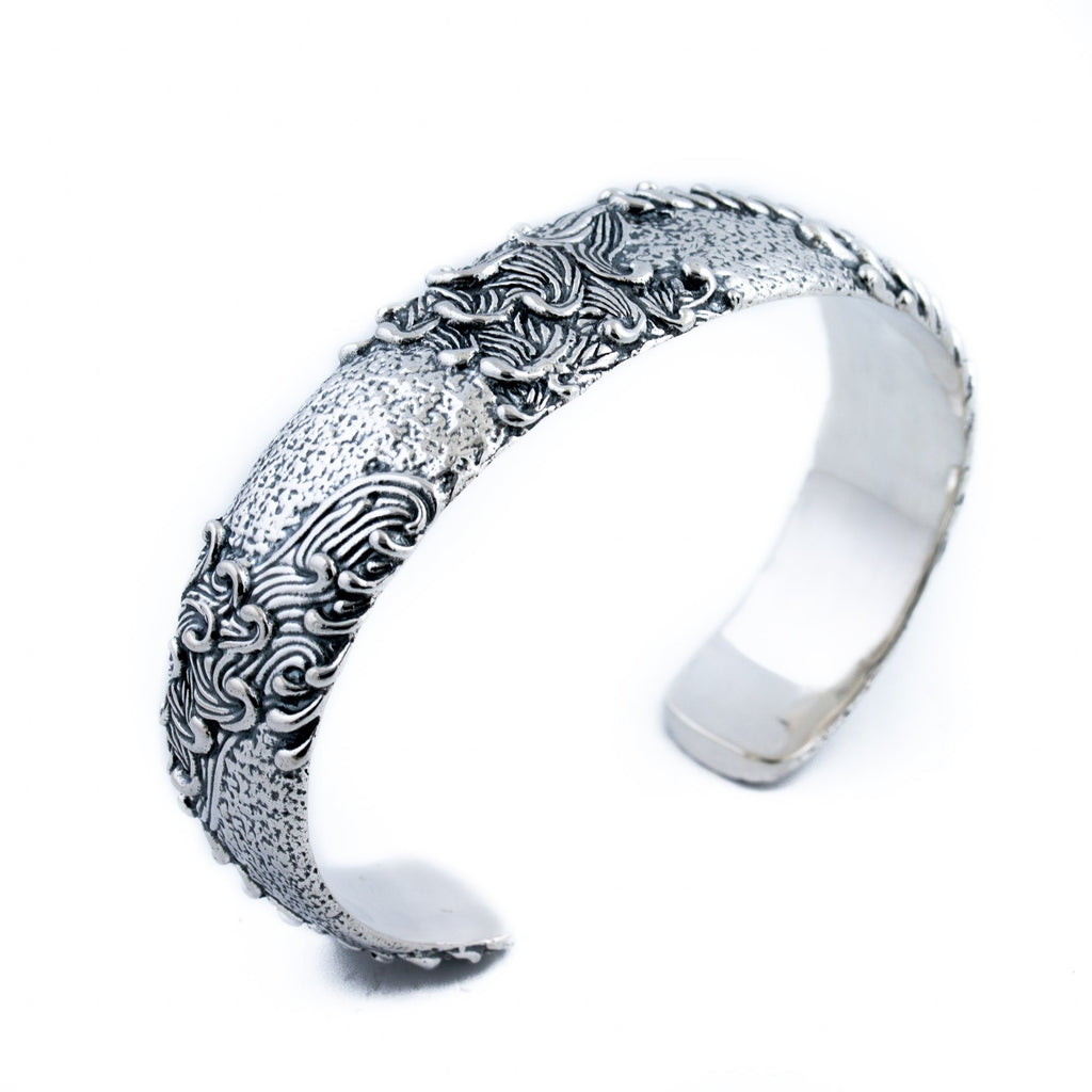 Silver Wave Channel Cuff - Kingdom Jewelry