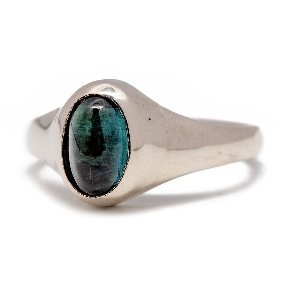 Sleek Silver Tourmaline Ring - Kingdom Jewelry