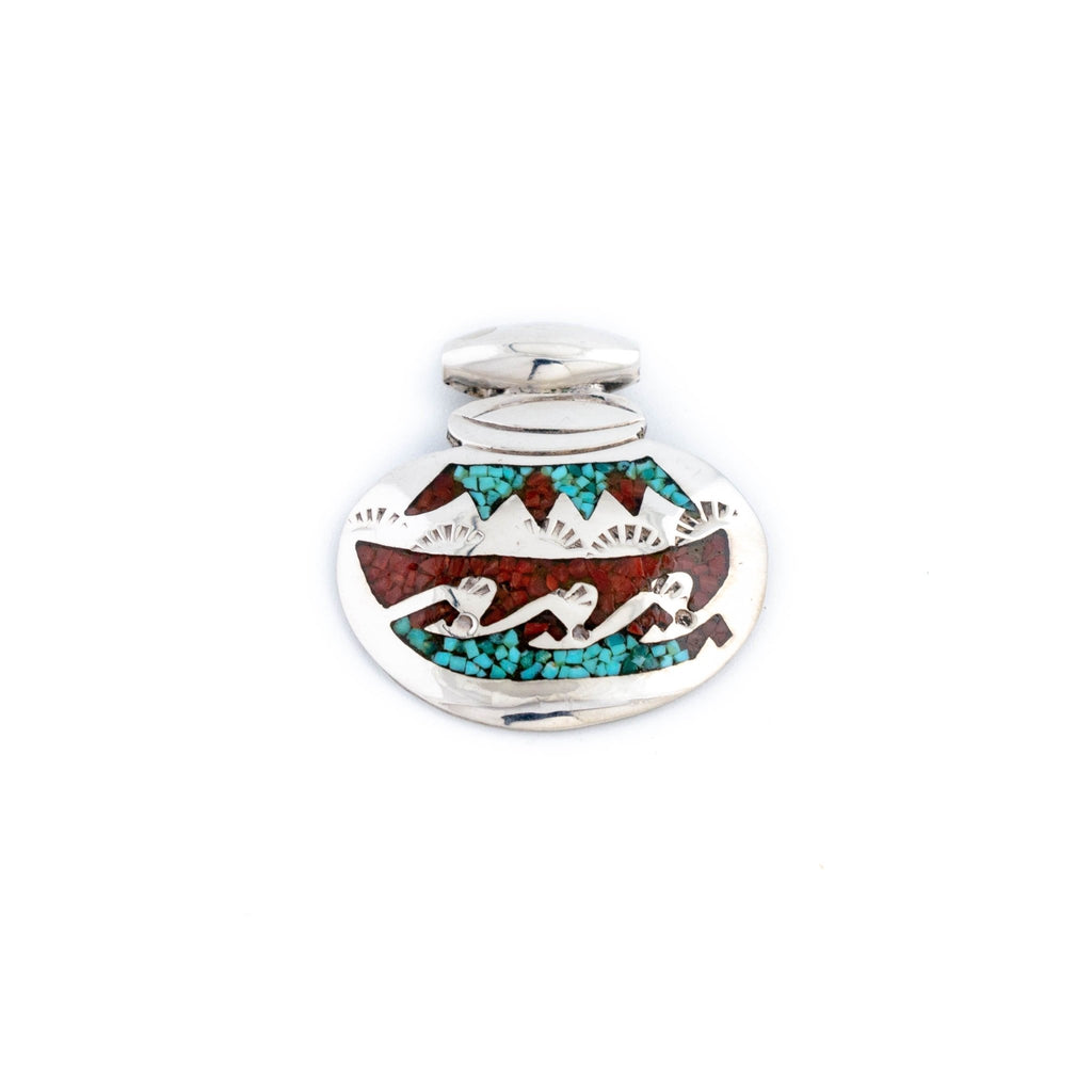 Small Chip Inlay Pendant - Kingdom Jewelry