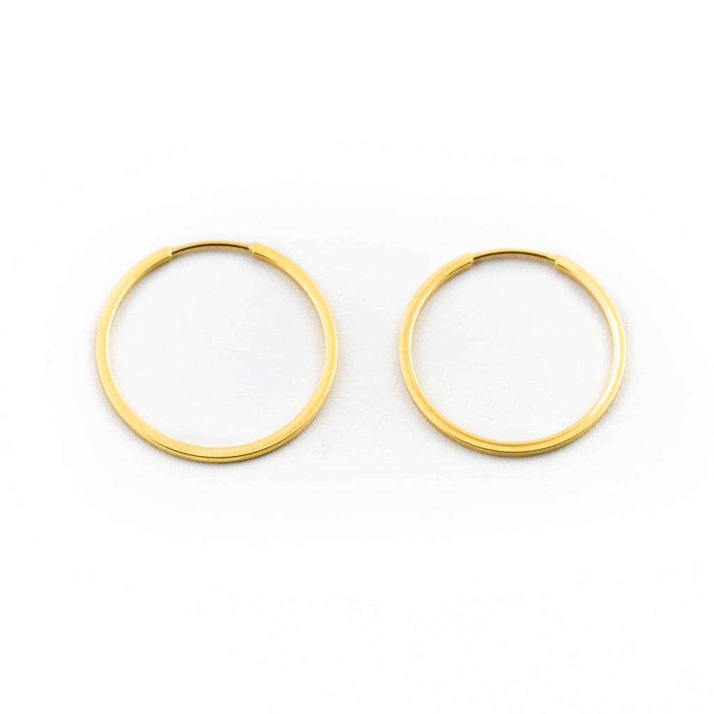 Small Gold Hoop Earrings - Kingdom Jewelry