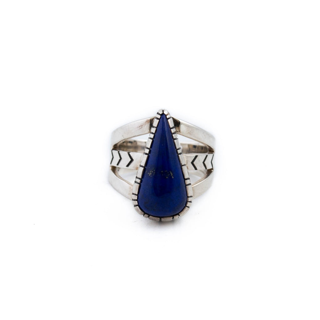 Small Teardrop Lapis Ring - Kingdom Jewelry