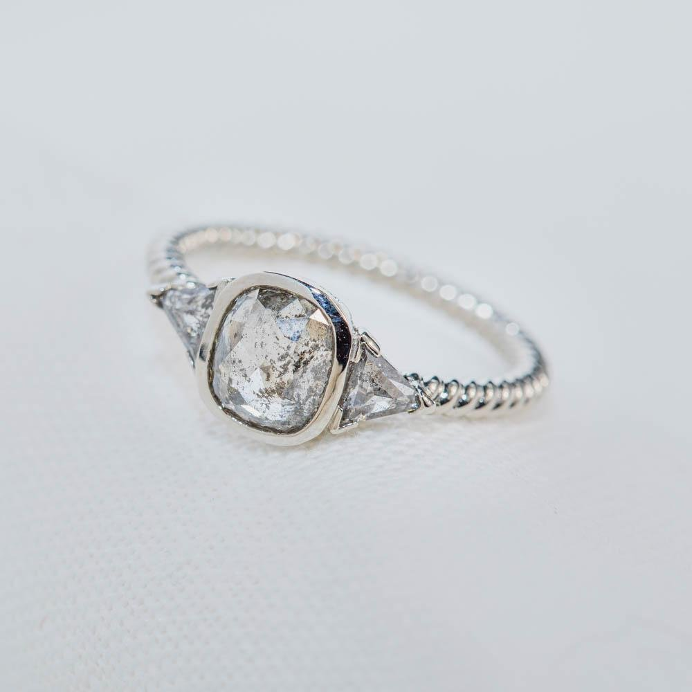 Smoldering Diamond Engagement Ring - Kingdom Jewelry