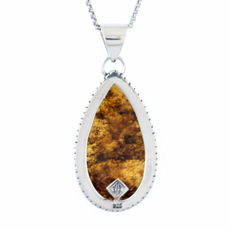 Speckled Chiapas Amber Pendant - Kingdom Jewelry