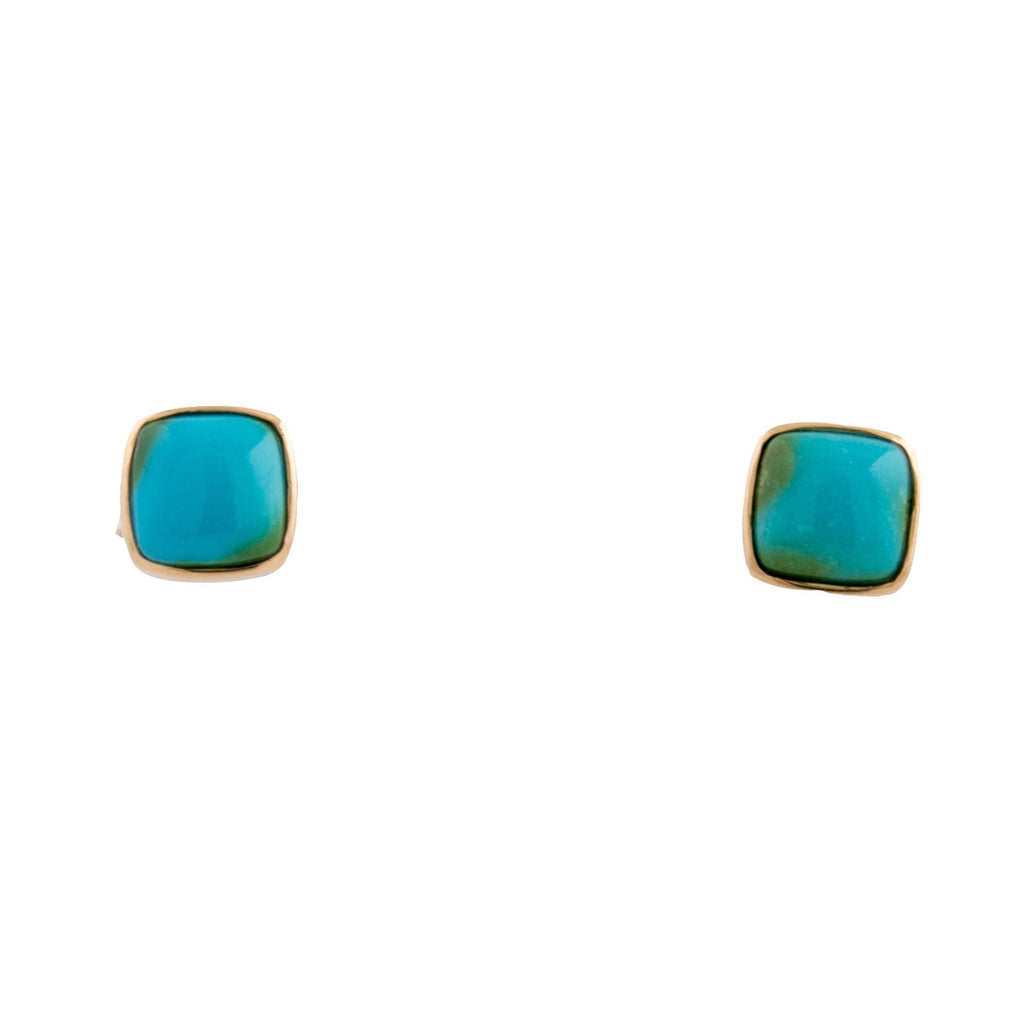 Square Sonoran Gold Earrings - Kingdom Jewelry