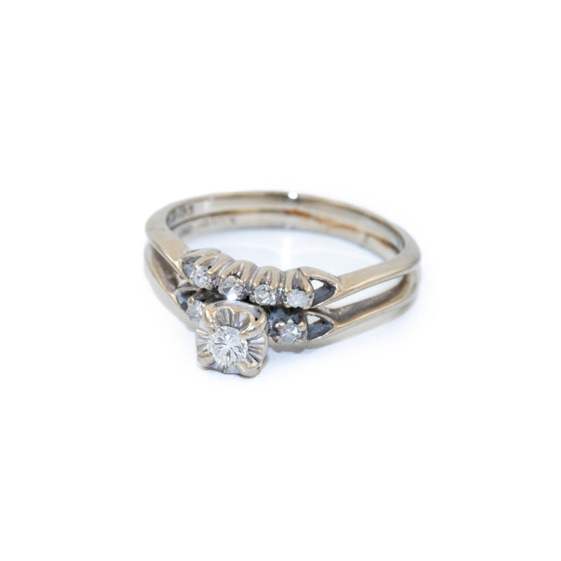 Stacked Gold Diamond Ring - Kingdom Jewelry