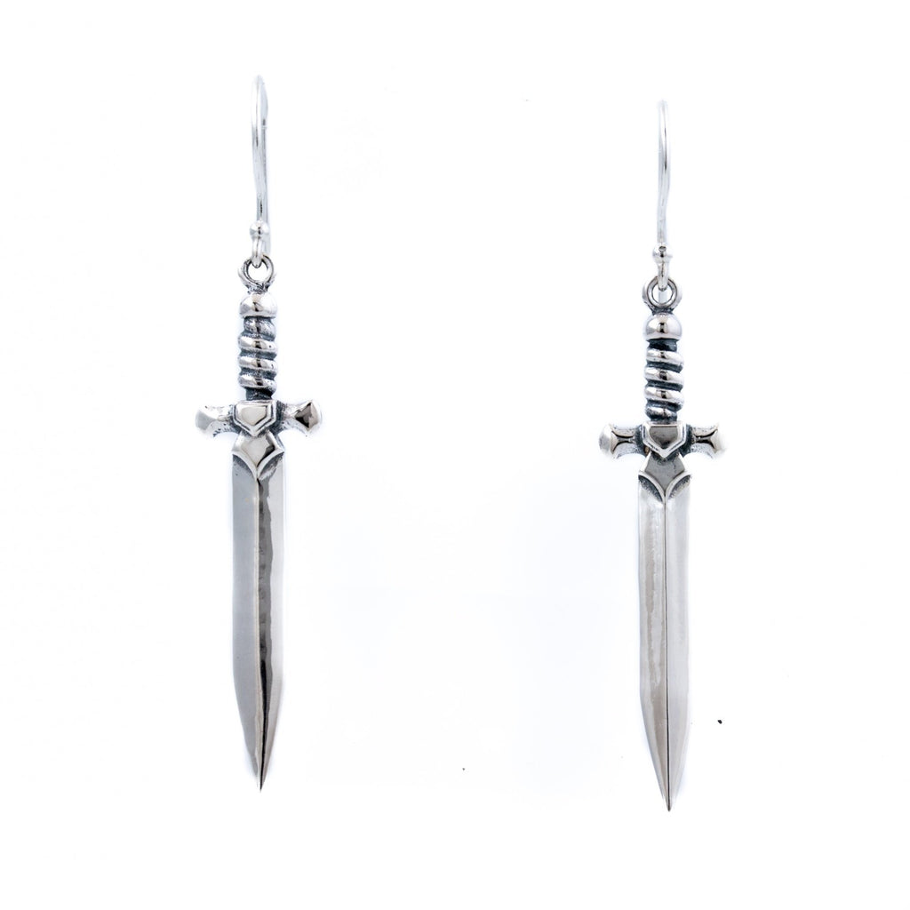 "Sterling Silver ""Shortsword"" Earrings - Kingdom Jewelry"
