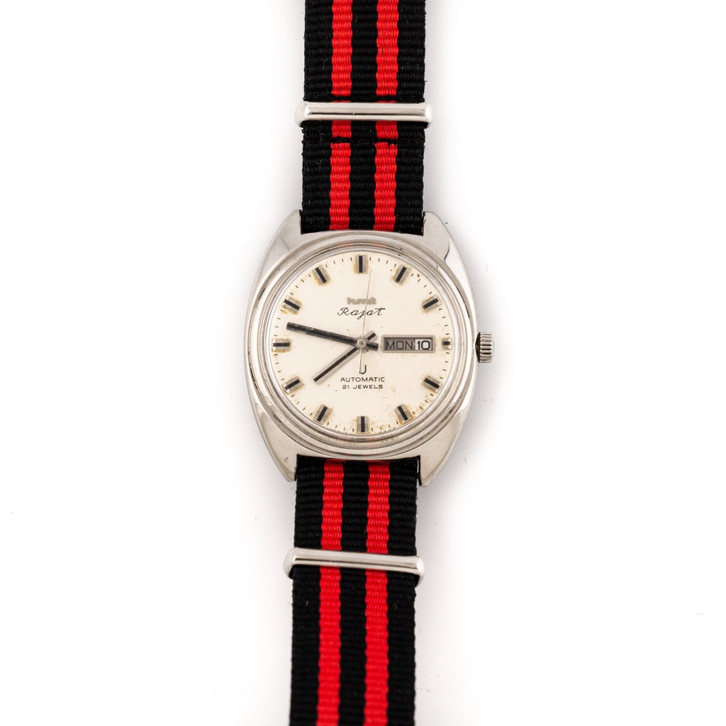 Striped HMT Rajat Watch - Kingdom Jewelry