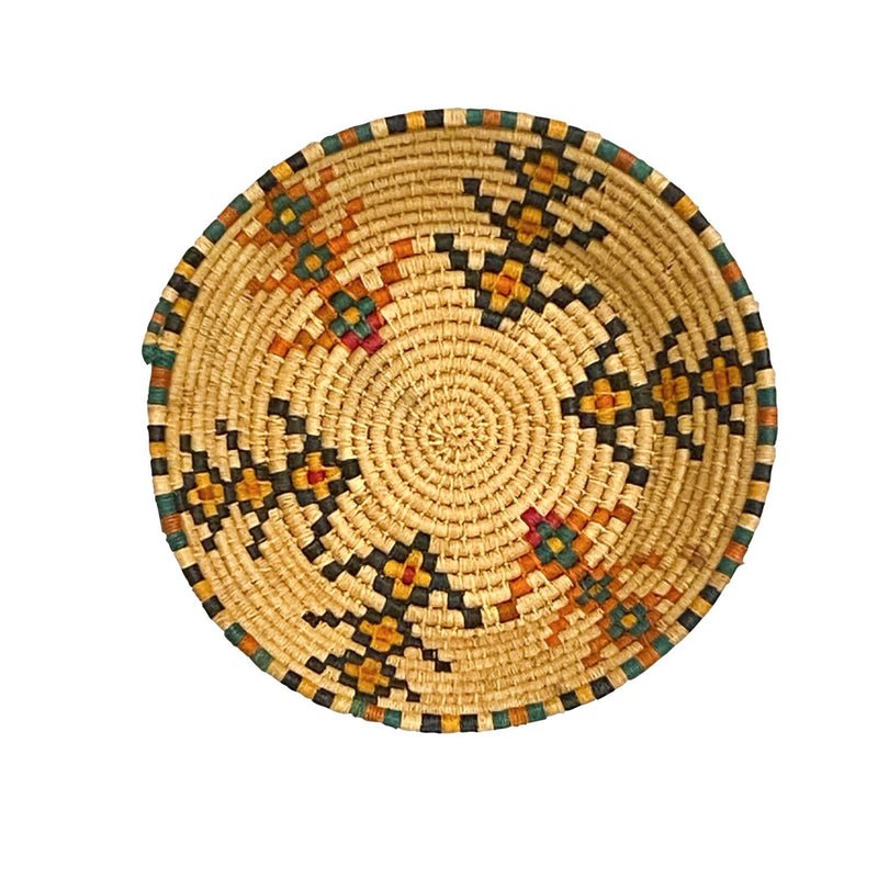 Tan Flower Weaved Basket - Kingdom Jewelry