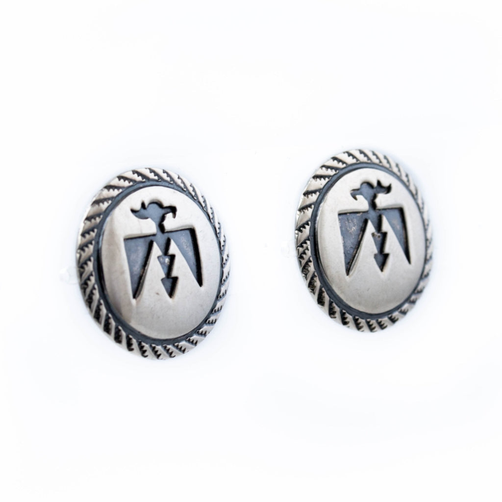 Thunderbird Navajo Overlay Earrings - Kingdom Jewelry