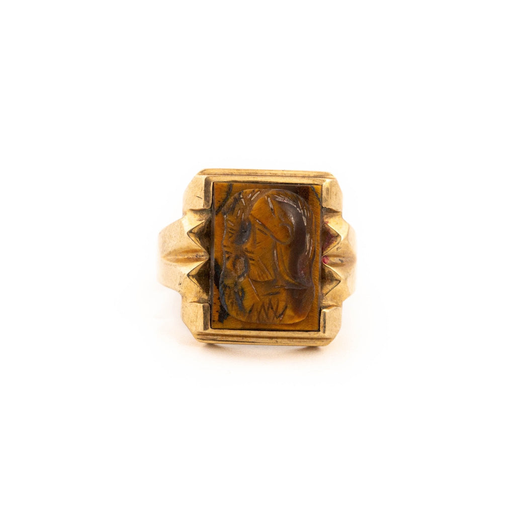 Tigers Eye Cameo Ring - Kingdom Jewelry