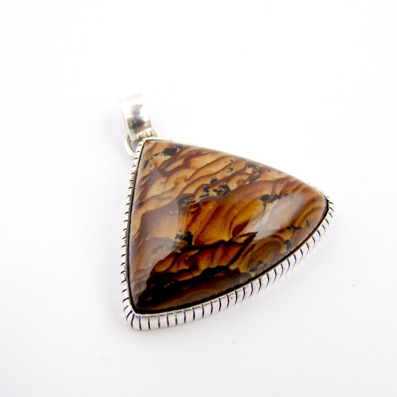 Triangle Biggs Jasper Pendant - Kingdom Jewelry