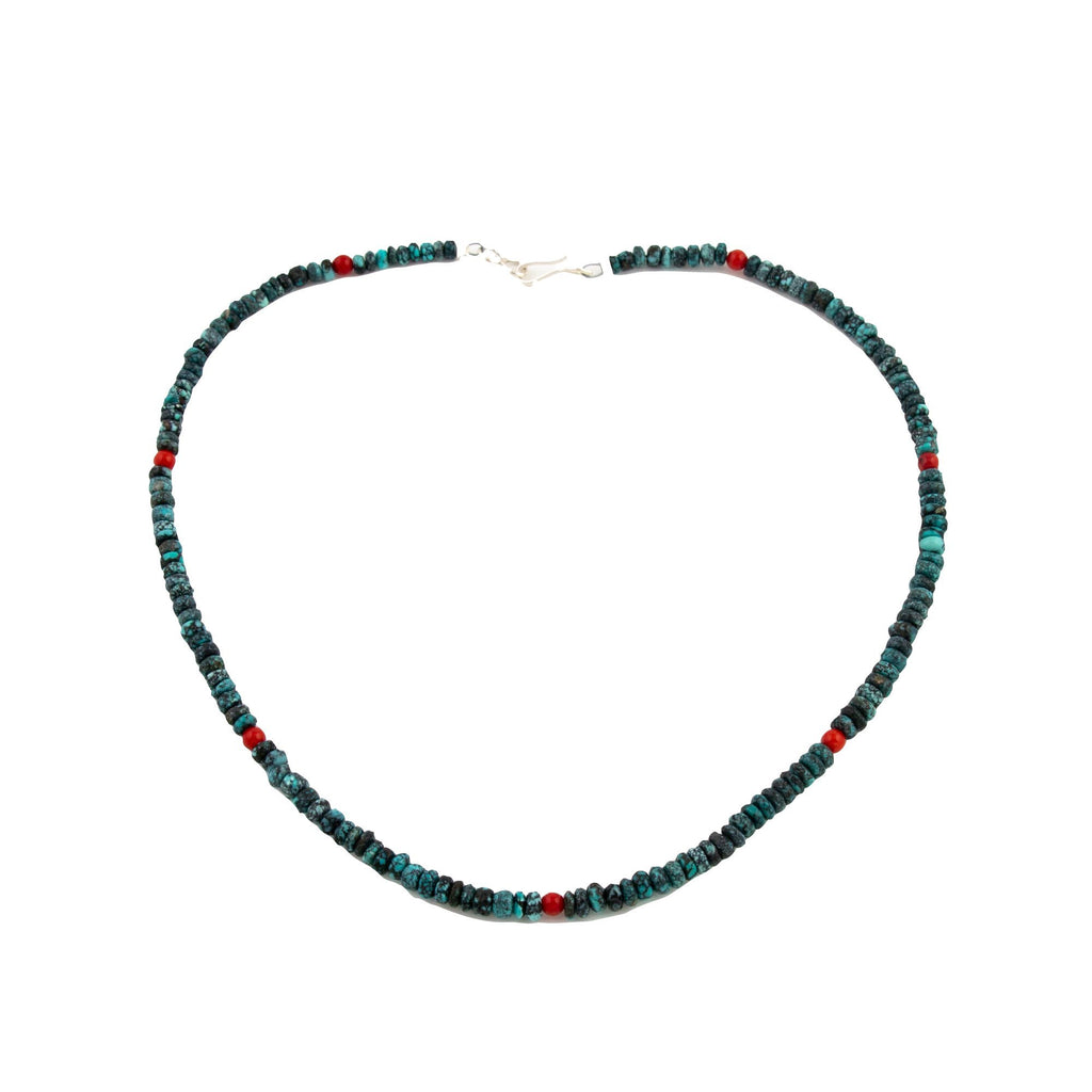 Turquoise Coral Choker Necklace - Kingdom Jewelry